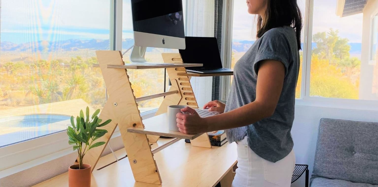 The Missing Piece to Your Home Office: A Standing Desk Converter (Made in San Diego)